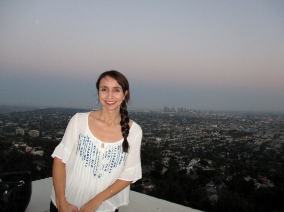 At Griffith Park Observatory in LA, not too far from where I live. It's one of my favorite places to hang out and watch the city lights.