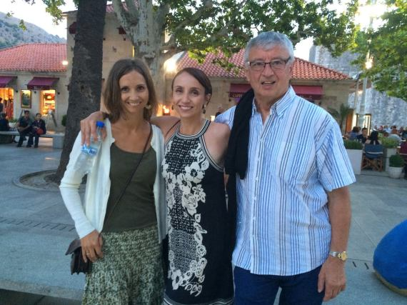 Headed out for dinner with my dad and sister in Dubrovnik, Croatia.