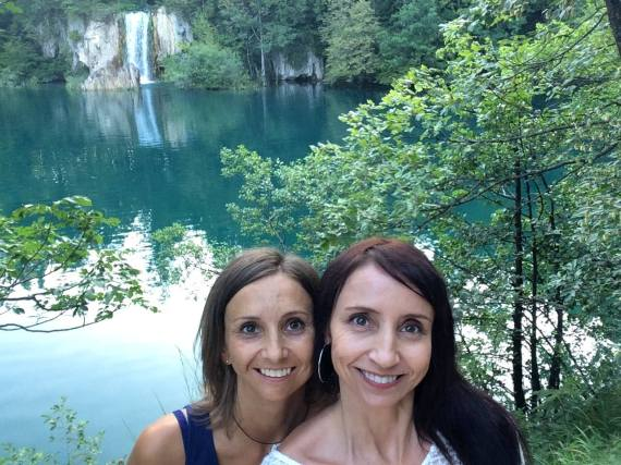 Visiting the incredible Plitvice Lakes Park in the north of Croatia with my sister. The two of us, her husband, and our dad, rented a car and spent ten days driving around the country.