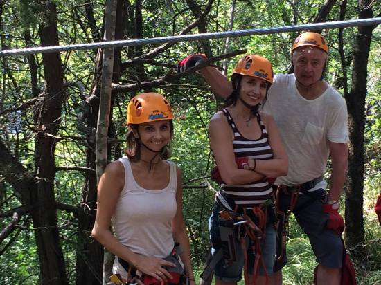 Zip lining in Croatia with my family. SO much fun!:)